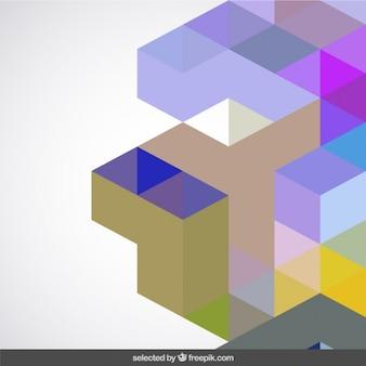 Les couleurs claires fond géométrique