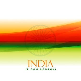 Couleurs du drapeau indien orange et vert