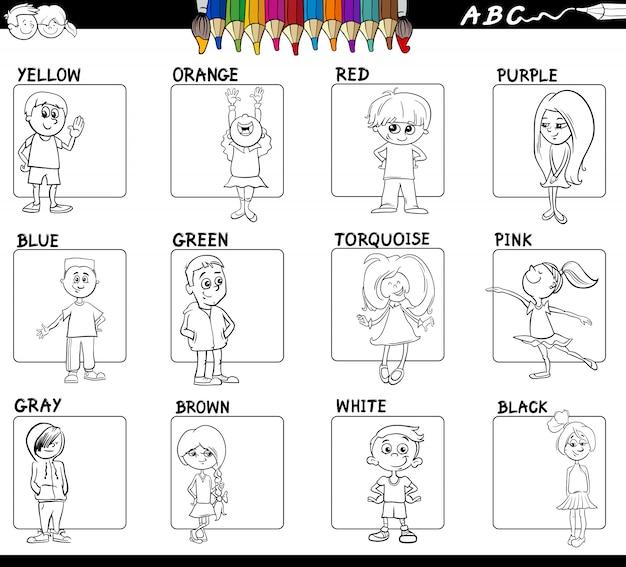 Couleurs éducatives sertie de carnet de couleurs pour enfants