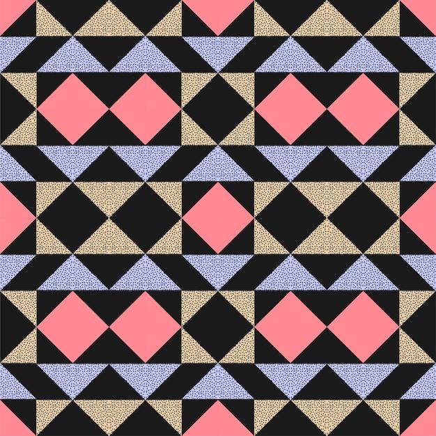 Couleurs géométriques de memphis fond transparent triangle