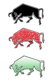 Couleurs jeu de taureau