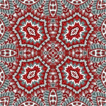 Couleurs de noël colorées festives abstraites vecteur motif tribal ethnique