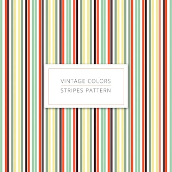 Couleurs vintage rayures