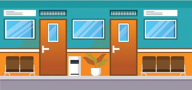 Couloir clinique hôpital illustration