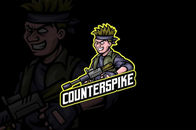 Counter spike - modèle de logo esport