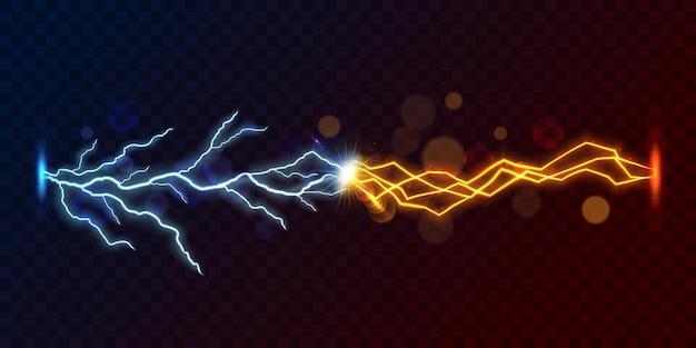 Coup de foudre contre le flash de court-circuit
