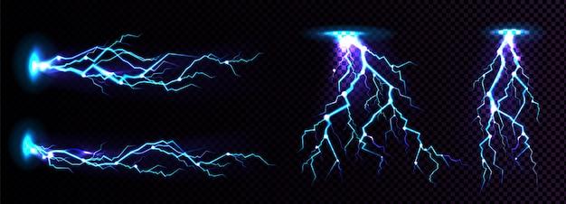 Coup de foudre électrique, lieu d'impact