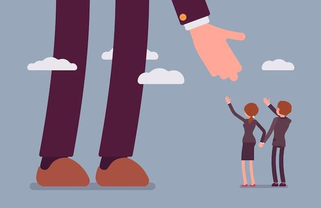 Coup de main pour les gens d'affaires