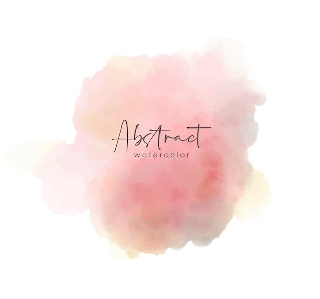 Coup de peinture aquarelle, couleur splash abstraite, vecteur d'effet aquarelle, texture de couleur rose
