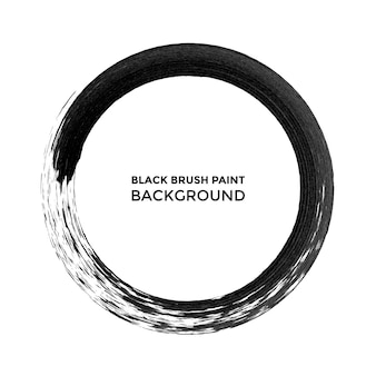 Coup de peinture de cercle d'encre noire de vecteur.