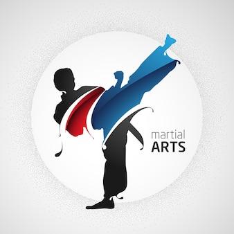 Coup de pied d'arts martiaux