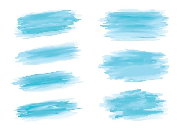 Coup de pinceau aquarelle bleu sur fond blanc