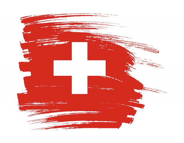 Coup de pinceau drapeau de la suisse