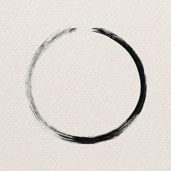 Coup de pinceau noir abstrait rond
