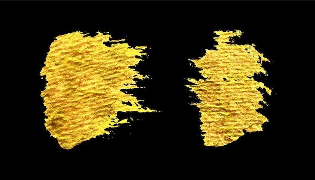 Coup de pinceau d'or sur fond noir