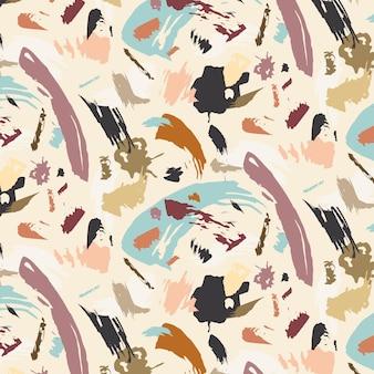Coup de pinceau tons neutres peinture motif abstrait