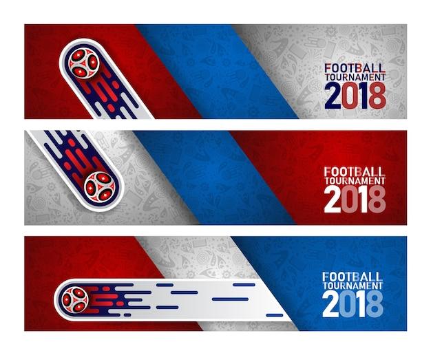 Coupe du monde 2018 de football sur fond abstrait