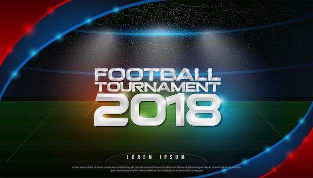 Coupe du tournoi de football du championnat du monde 2018 sur fond de stade