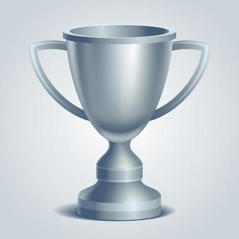 Coupe du trophée en argent. illustration