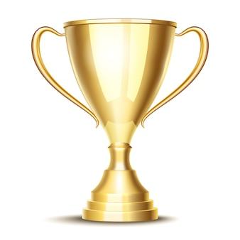 Coupe du trophée gagnant de vecteur. prix sportif et vainqueur, victoire et meilleur champion