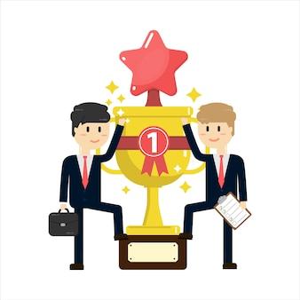 Coupe du trophée pour le succès de l'entreprise