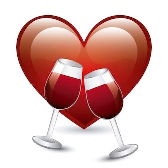 Coupe du vin sur illustration vectorielle fond blanc