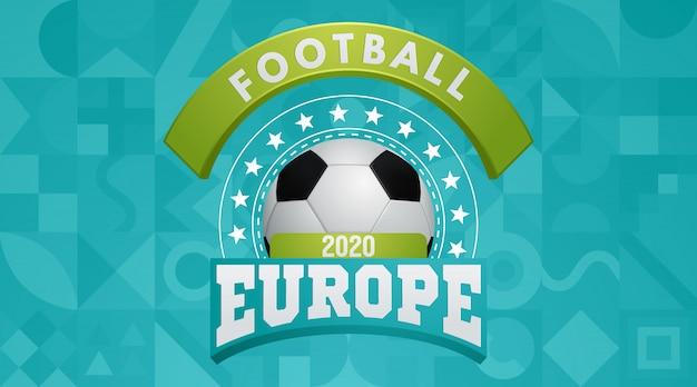 Coupe D'europe De Football 2020 Vecteur Premium