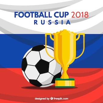 Coupe de football 2018 avec trophée