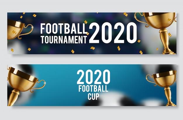 Coupe de football, bannière de championnat de football