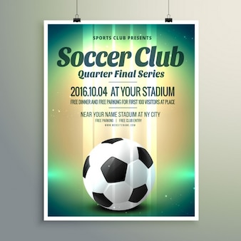 Coupe de football série finale flyer template
