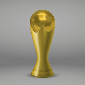 Coupe d'or de football realictic isolé