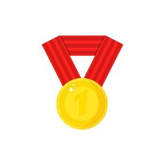Coupe d'or isolée sur fond blanc. prix d'or du gagnant.