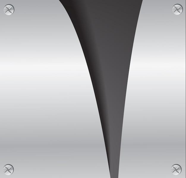 Couper la plaque en métal déchirant et espace fond noir