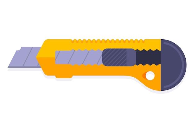 Coupeur de bureau jaune sur fond blanc. illustration vectorielle plane.