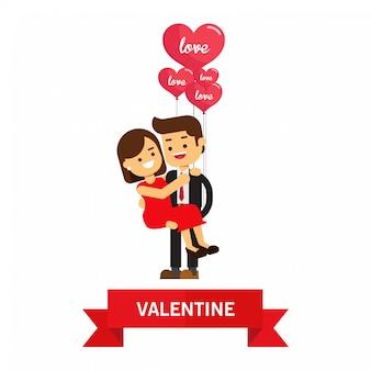 Couple d'amoureux pour l'amour saint valentin