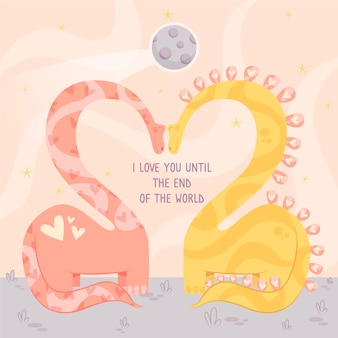 Couple d'animaux saint valentin design plat