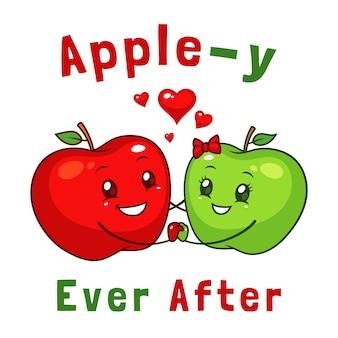Couple d'apple heureux