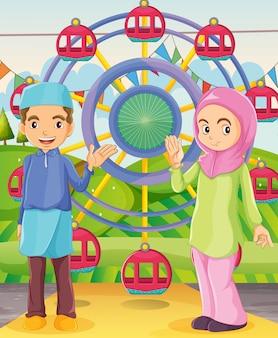 Un couple au carnaval