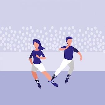 Couple avatar patinage