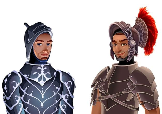 Couple de chevaliers.