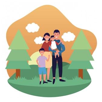 Couple avec enfants