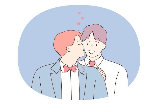 Couple gay, homosexualité, concept d'égalité des personnes.