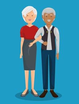 Couple de grands parents