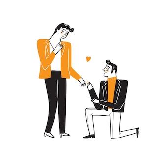 Couple homosexuel célébrant l'amour.