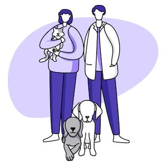 Couple avec illustration d'animaux