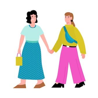 Couple de jeunes femmes