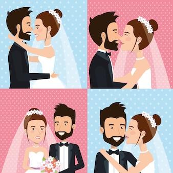 Couple juste marié photos