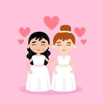 Couple de mariage gay