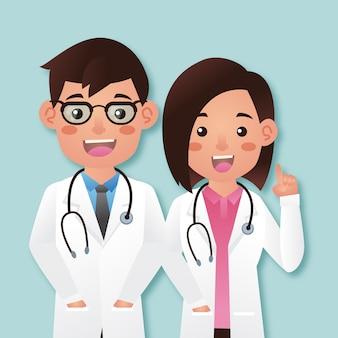 Couple médecin mignon