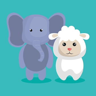 Couple mignon peluches vector illustration design